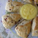 Cranberry Scones and Lemon Curd